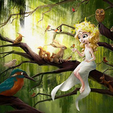 Princess singing by goblinight