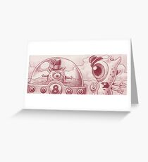 Buggle and Snappy surprise themselves... Greeting Card
