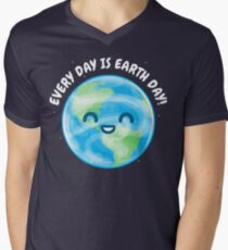 Every Day is Earth Day Men's V-Neck T-Shirt