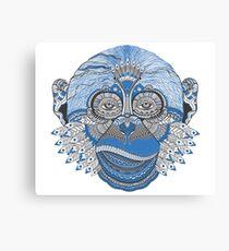 Blue Monkey Canvas Print