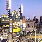 Tiger Stadium on an August night. by Mike Cressy