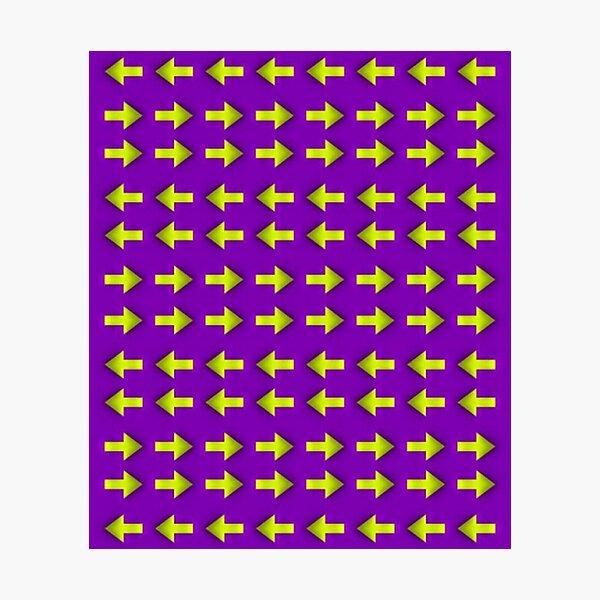 Moving illusion, Op art, optical art, visual art, optical illusions, abstract, Hip, modish, astonishing, amazing, surprising, wonderful, remarkable, extraordinary Photographic Print