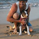 13. Dave & his American Staffy by Cathie Brooker