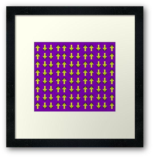 Láminas enmarcadas «Ilusión móvil, Op art, arte óptico, arte visual ...