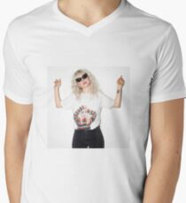 Hayley Williams wearing a Hayley Williams Shirt Men's V-Neck T-Shirt