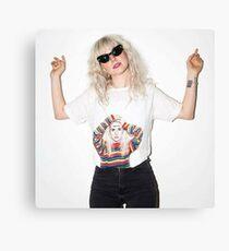 Hayley Williams wearing a Hayley Williams Shirt Canvas Print