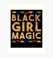 Black Girl Magic Kente Melanin Poppin Afro Dashiki Melanin Rich Skin Black Power Pride Goddes Art Print