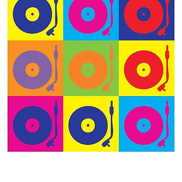 Vinyl Record Player Turntable Pop Art by popculture