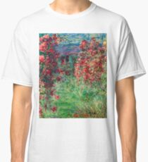 "Claude Monet ""House among the Roses"", 1925 Classic T-Shirt"