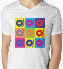 Vinyl Record Player Turntable Pop Art Men's V-Neck T-Shirt