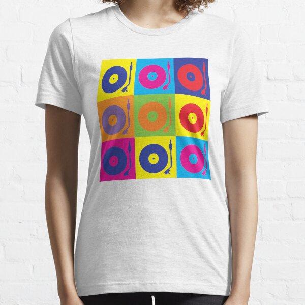 Vinyl Record Player Turntable Pop Art Essential T-Shirt