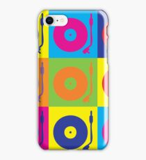 Vinyl Record Player Turntable Pop Art iPhone Case/Skin