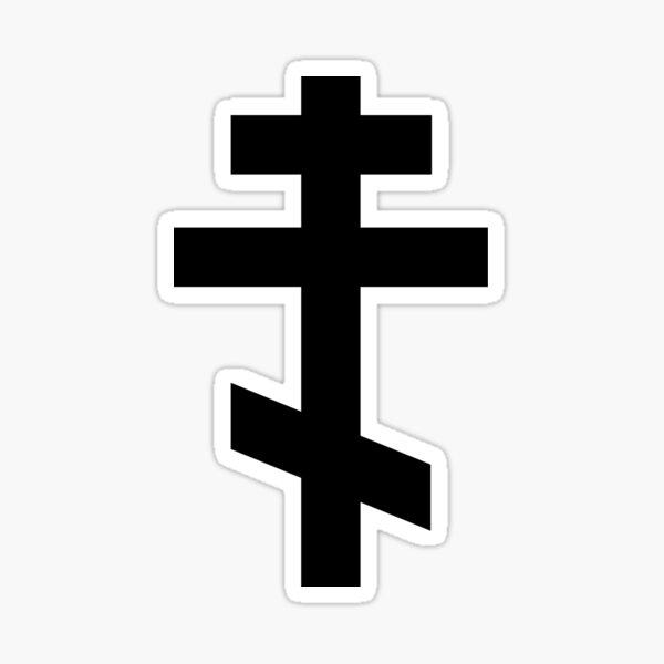 Eastern Orthodox Cross Sticker