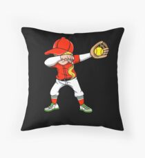 Dabbing Softball Girl Baseball Softball Family Team Home Run Diamond Field Sport Game Coach Floor Pillow