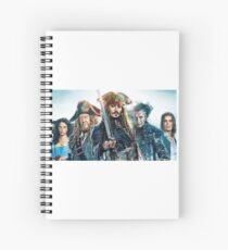 Pirattes of the Caribbean  Spiral Notebook