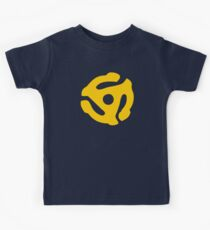 Yellow 45 RPM Vinyl Record Symbol Kids Tee