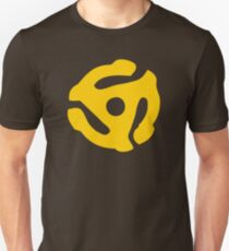 Yellow 45 RPM Vinyl Record Symbol Unisex T-Shirt