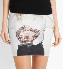 Hayley Williams wearing a Hayley Williams Shirt Mini Skirt