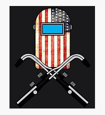 American Welder   USA Flag Welding Hood  Photographic Print
