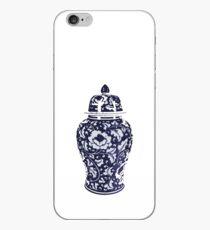 Navy Blue White Hamptons Ginger Jar Chinoiserie Vase Art iPhone Case