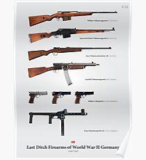 Letzte Graben Feuerwaffen des Zweiten Weltkriegs Deutschland Poster