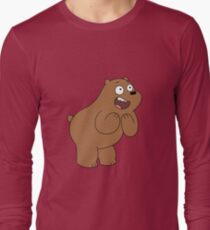 Grizzly bear impressed Long Sleeve T-Shirt