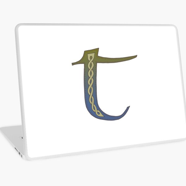 Celtic Knotwork Alphabet - Letter T Laptop Skin