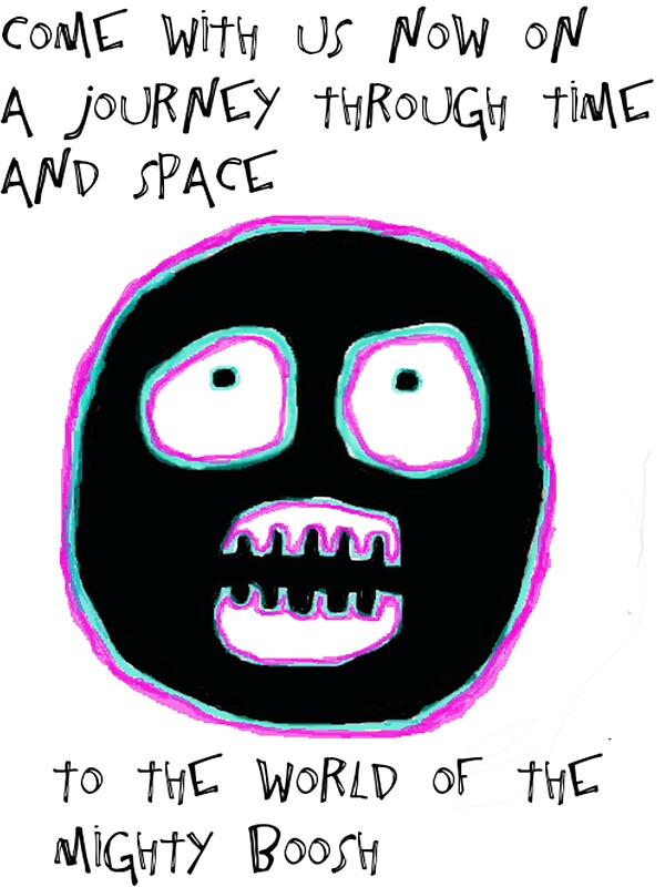 The mighty boosh time and space stickers by fmswish redbubble - Very small space of time image ...
