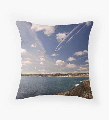 Flight paths across Falmouth, Cornwall Throw Pillow