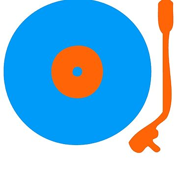Blue Orange Vinyl Record Turntable by popculture