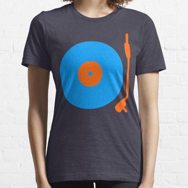 Blue Orange Vinyl Record Turntable Essential T-Shirt