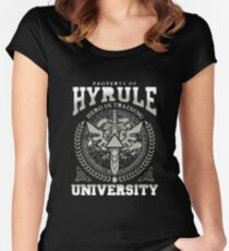 zelda hyrule university Women's Fitted Scoop T-Shirt