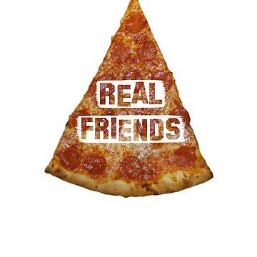 REAL FRIENDS POP PUNK PIZZA DESIGN by MattsStuff