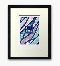 Hello Summer Framed Print
