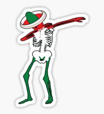 Cinco de Mayo Dab Skeleton Sticker