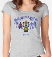'Please accept a giant robot as your reward' Women's Fitted Scoop T-Shirt