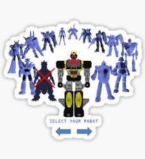 'Please accept a giant robot as your reward' Sticker