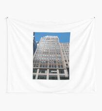 Building, Skyscraper, New York, Manhattan, Street, Pedestrians, Cars, Towers Wall Tapestry