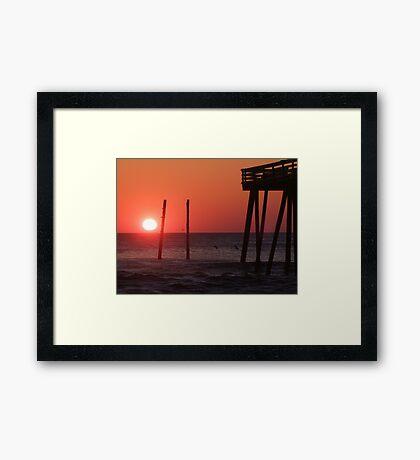 Sunrise at Kitty Hawk Framed Print
