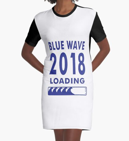 Blue Wave 2018 Loading Graphic T-Shirt Dress