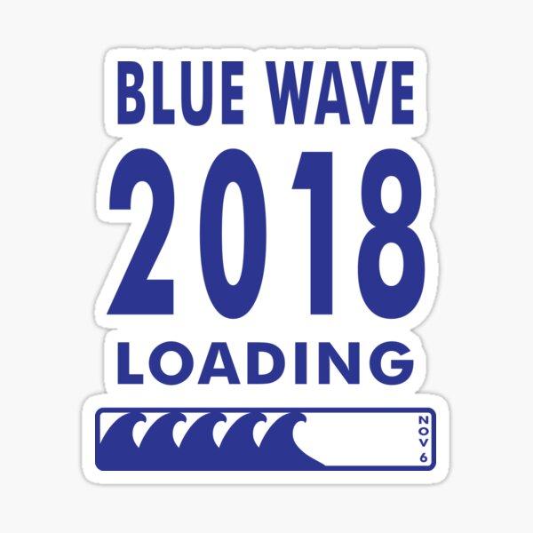 Blue Wave 2018 Loading Sticker