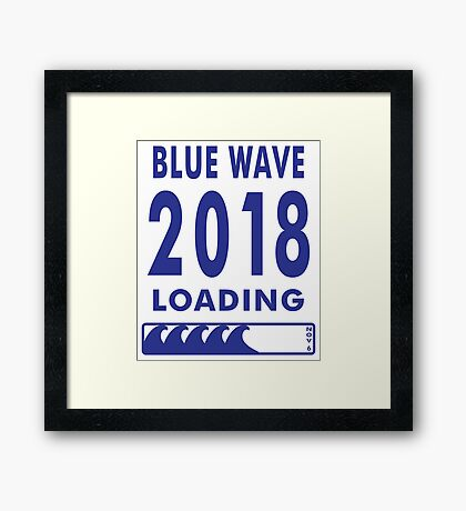 Blue Wave 2018 Loading Framed Print