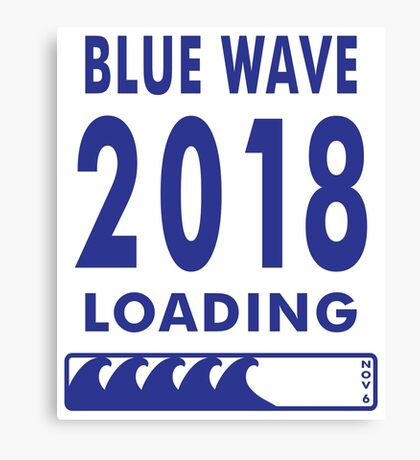 Blue Wave 2018 Loading Canvas Print