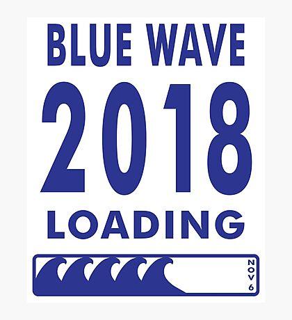 Blue Wave 2018 Loading Photographic Print