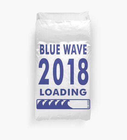 Blue Wave 2018 Loading Duvet Cover