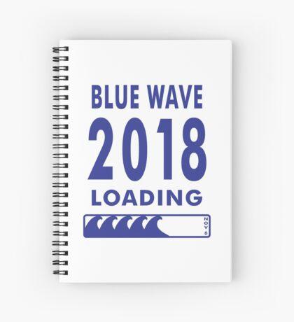 Blue Wave 2018 Loading Spiral Notebook