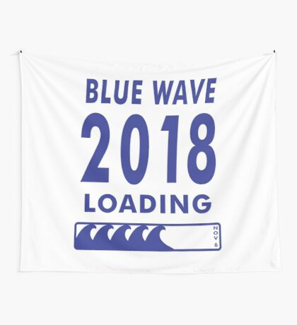 Blue Wave 2018 Loading Wall Tapestry