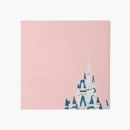Magic Castle Millennial Pink Art Board Print