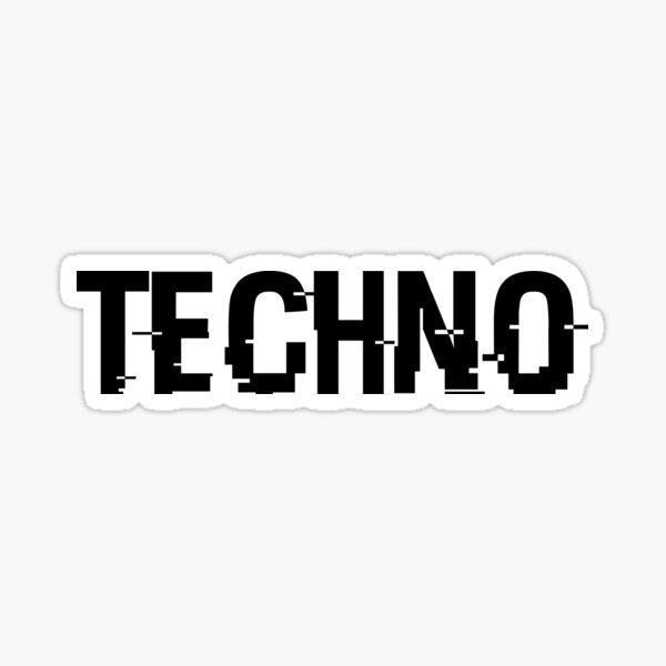 TECHNO Sticker
