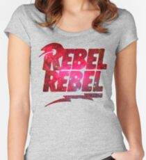 REBEL REBEL - DAVID BOWIE Women's Fitted Scoop T-Shirt